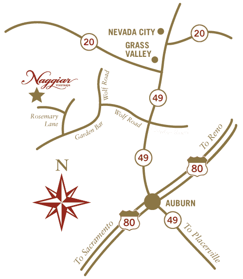 A map of Naggiar Vineyards to get directions