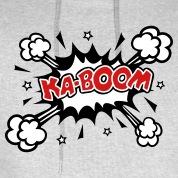 KABOOM,-comic-speech-bubble,-cartoon,-explosion-Hoodies