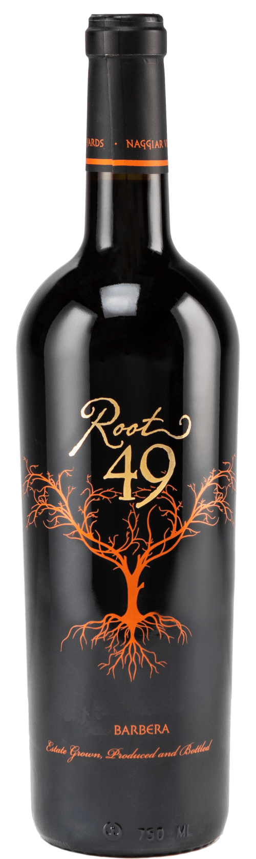 Root 49 Barbera wine bottle