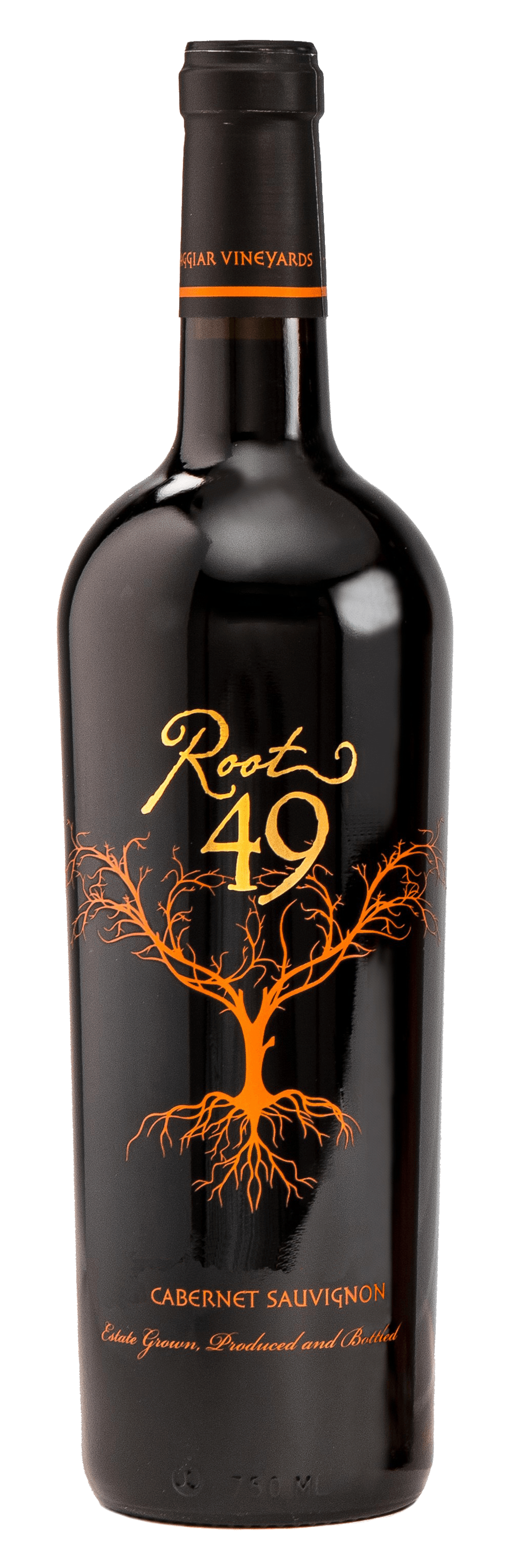 Root 49 Cabernet Sauvignon wine bottle