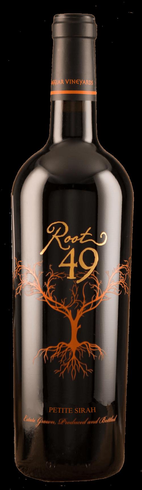 Root 49 Petite Sirah wine bottle