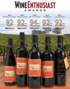 Wine Enthusiast Awards Naggiar winery